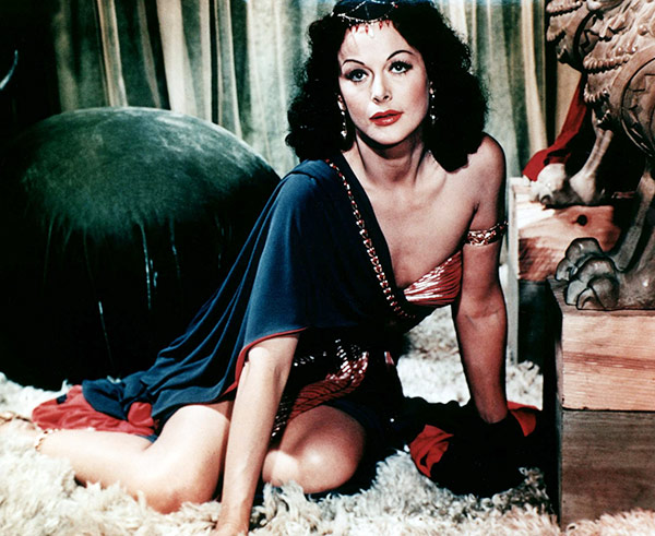 """Q37 Which 40s Hollywood pin-up famously said: """"Any girl can look glamorous: all you have to do is stand still and look stupid""""? Hedy Lamarr"""