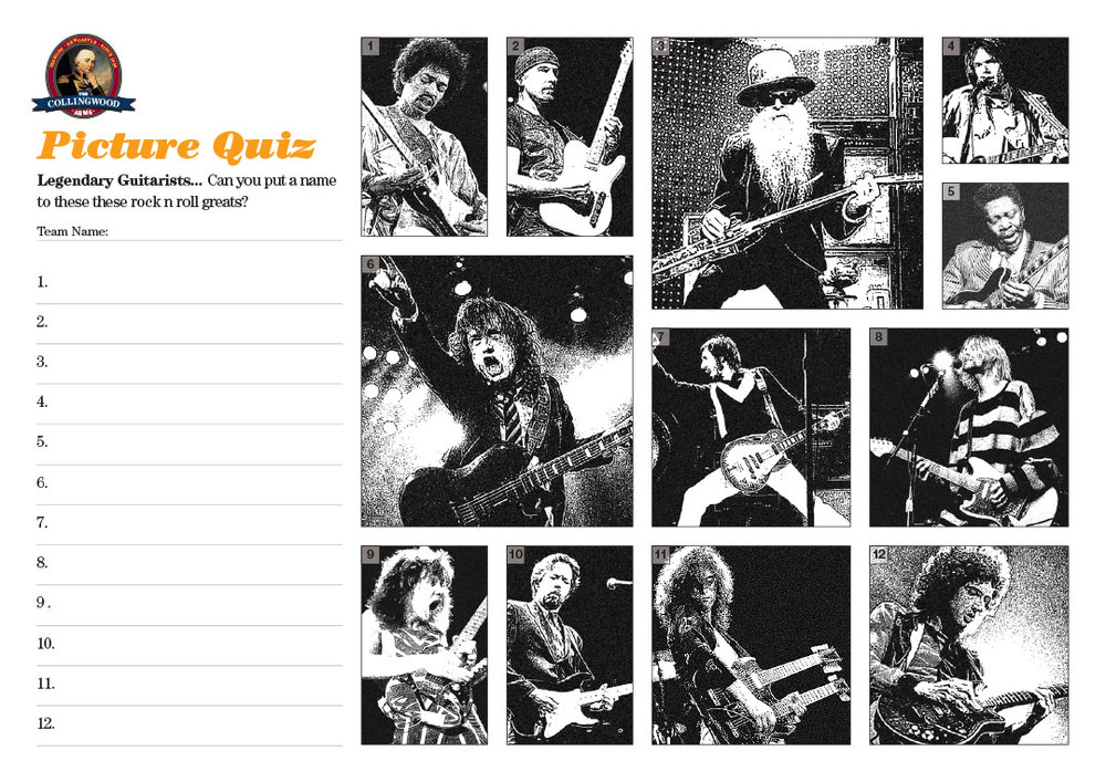 """The Clue on the   Preview   this week was """"  E, A, D, G, B and E are standard""""  ... a nice easy one (or so we thought) this week, Legendary Guitarists"""