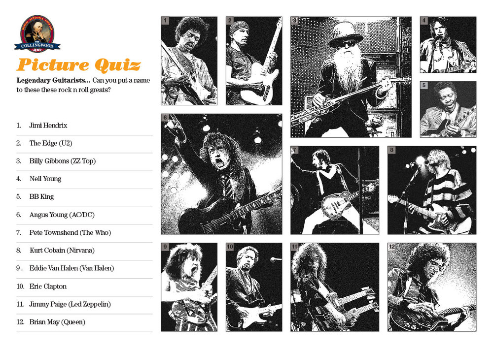 Most teams did okay on our Legendary Guitarists Picture Round but some had a shocker!