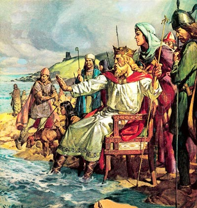 Q1 According to legend which Danish king of England tried to stop the tide? King Canute