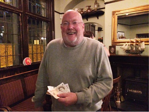 Richard was well chuffed with his £30 Wild Card Cash Prize!