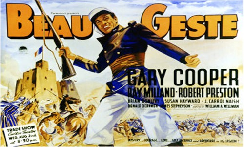 Q9 Which famous adventure novel about the French Foreign Legion was penned by P C Wren in the 1920s? Beau Geste