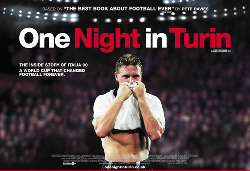 Q34 What was the subject of the documentary film One Night In Turin? And for a bonus point which famous London born actor narrated the documentary? England's involvement in the Italia '90 World Cup narrated by Gary Oldman
