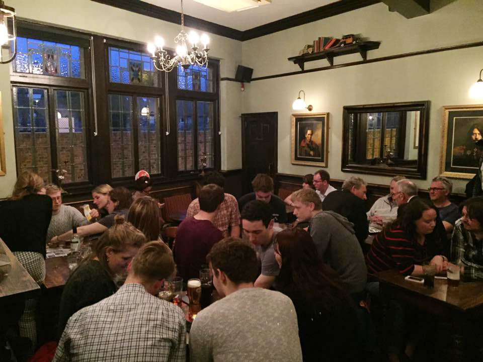 The bar was choc-a-block with 54 quizzers.