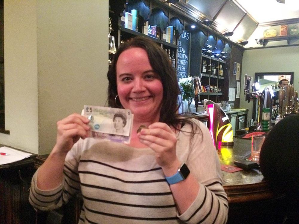 Louise T was well chuffed with her £27 Wild Card Cash Prize!