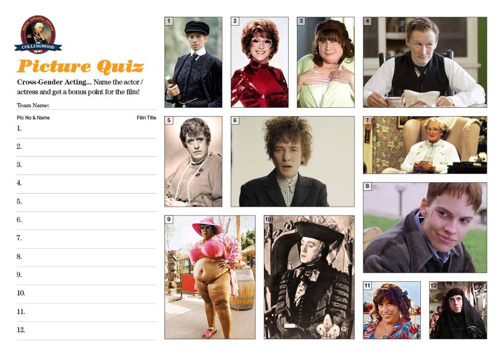 "The Picture Round on the   Quiz Preview   this week was   ""Who was Marlene McFly?"""