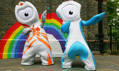 "Q30 Described by the Guardian as ""phallic bugbears fitted out in foppish puffery"" and ""by far the worst mascots of any Olympics"" can you recall the names of the two official mascots of London 2012? Wenlock and Mandeville"