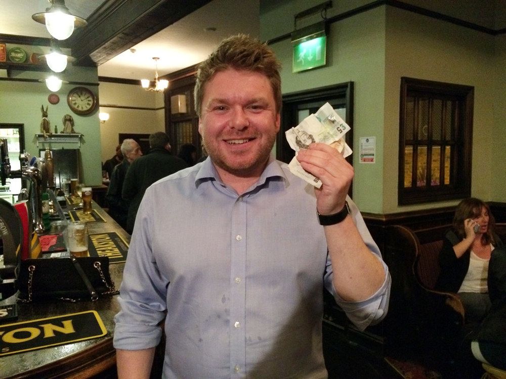 Rob was over the moon with his £33 Wild Card, not a bad return for a quid.