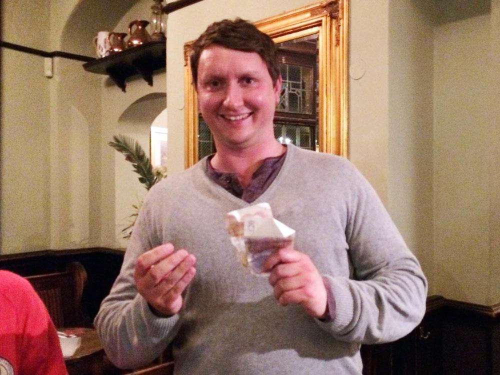 Whilst his team didn't have their most successful night at the Quiz, Malcolm came up trumps by winning the £31 Wild Card!