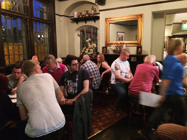 Great turnout, the front bar was packed and the back room was just as busy.