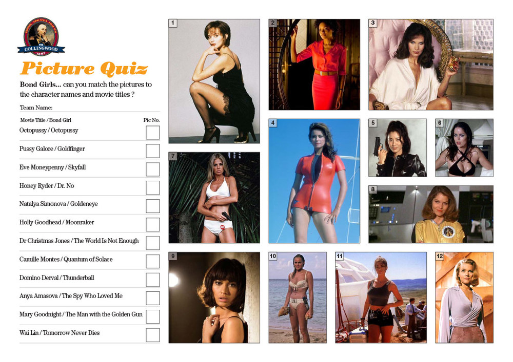 "This weeks clue on the   Quiz Preview   was   ""Halle Berry, Maud Adams and Honor Blackman""   so it had to be Bond Girls"