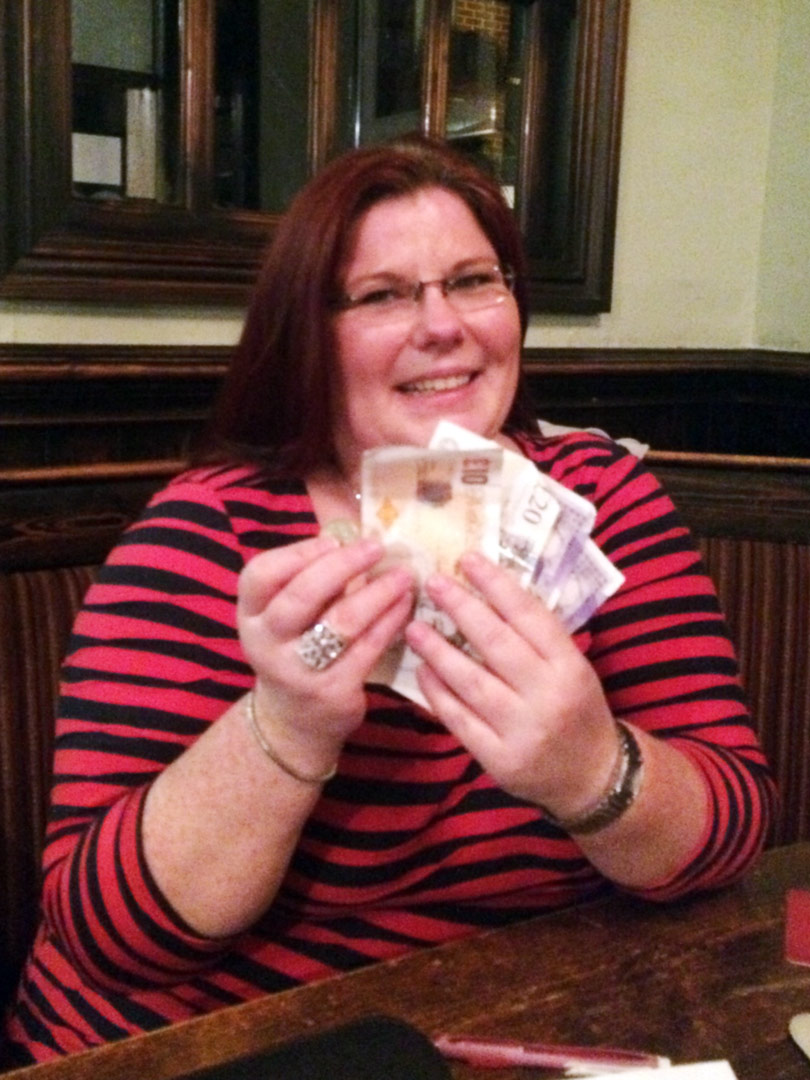 Sarah won the Quiz then went and guessed the £33 Wild Card... what a result!
