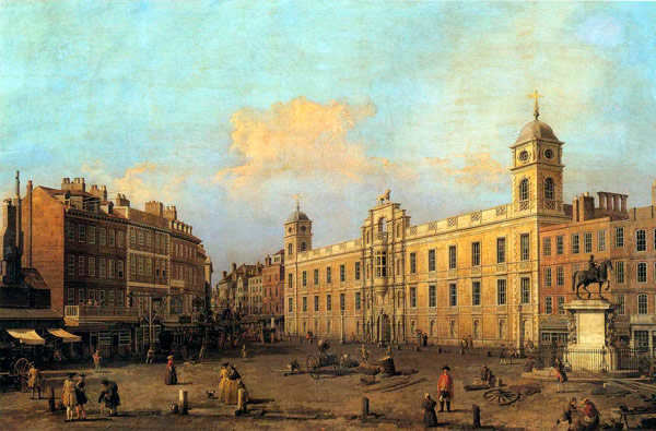 Q5. The Italian painter Canaletto is famous for urban landscapes of his home town Venice and which european capital? London