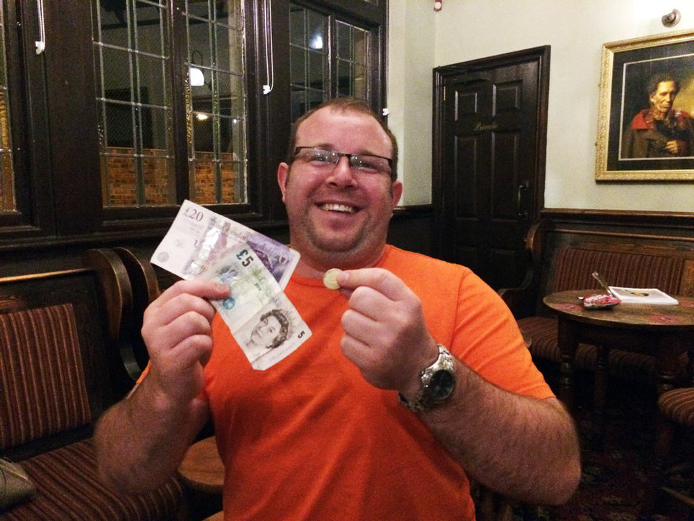 Jack, our serial Quizzer from Leicester, was well chuffed with his £26 Wild Card win.