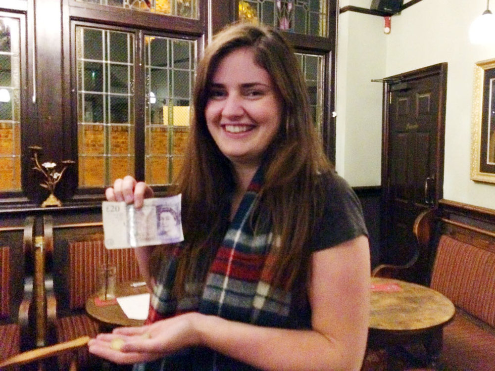 Maxine's night ended on a high, she won £22 on the Wild Card!