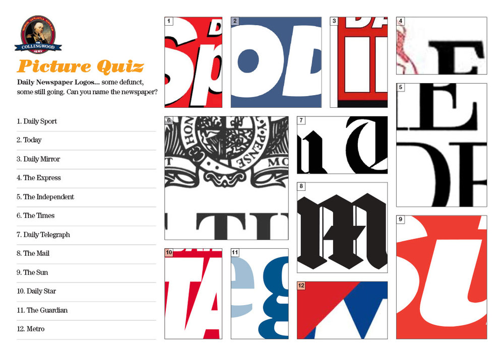 Most of our teams made short work of the newspaper logos!