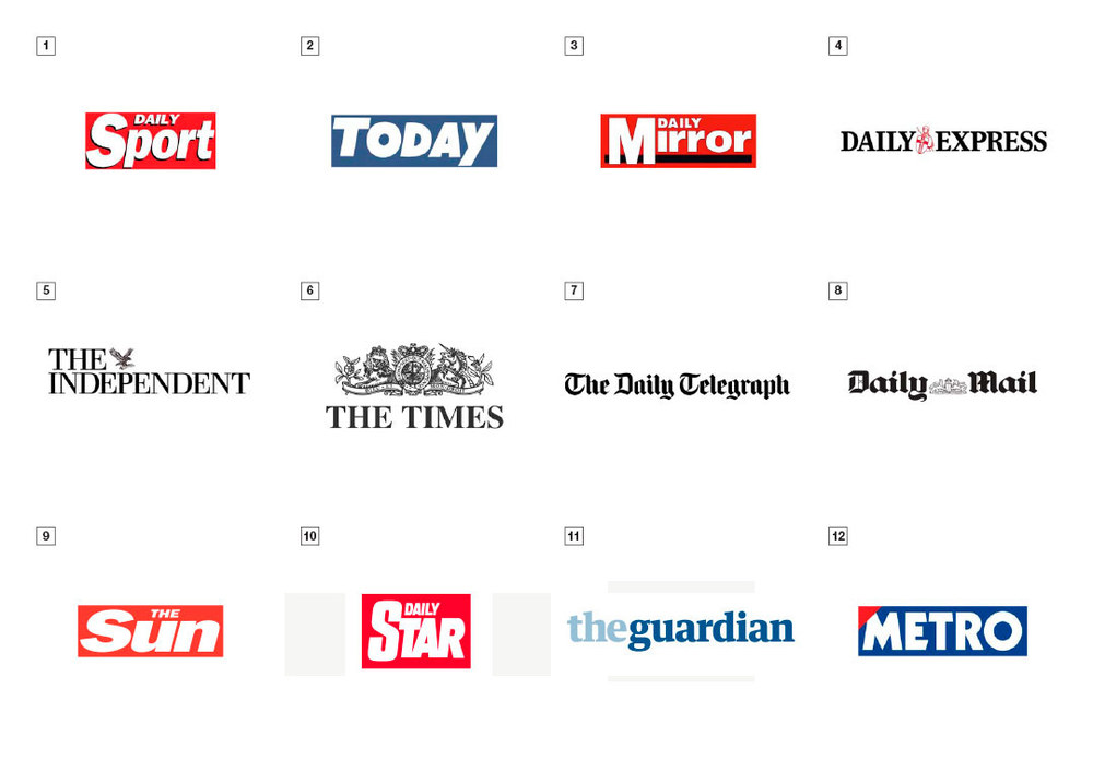 And here's the Newspaper Logos in all their glory.