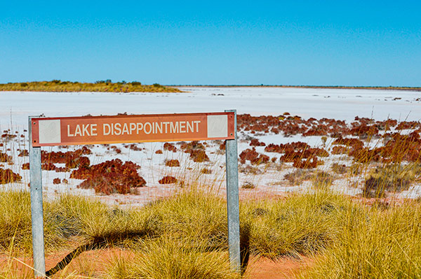 Q03. In which country can you find Lake Disappointment? Australia