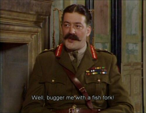 Q39. In the TV comedy classic Blackadder Goes Forth, what was the name of General Melchett's pet carrier pigeon shot by Captain Blackadder? Speckled Jim