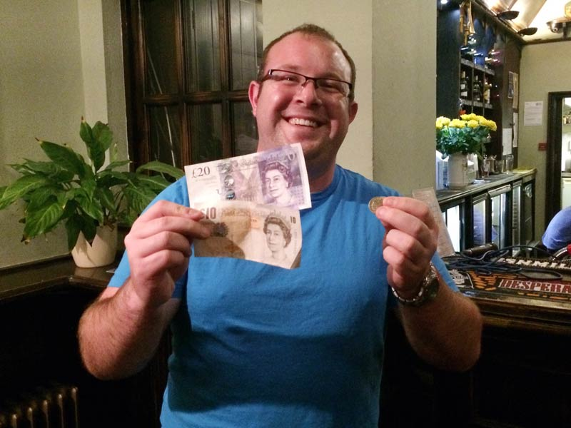 Leicesters finest, Jack, won his second Wild Card in three weeks and he was well chuffed with the £32 Cash Prize!