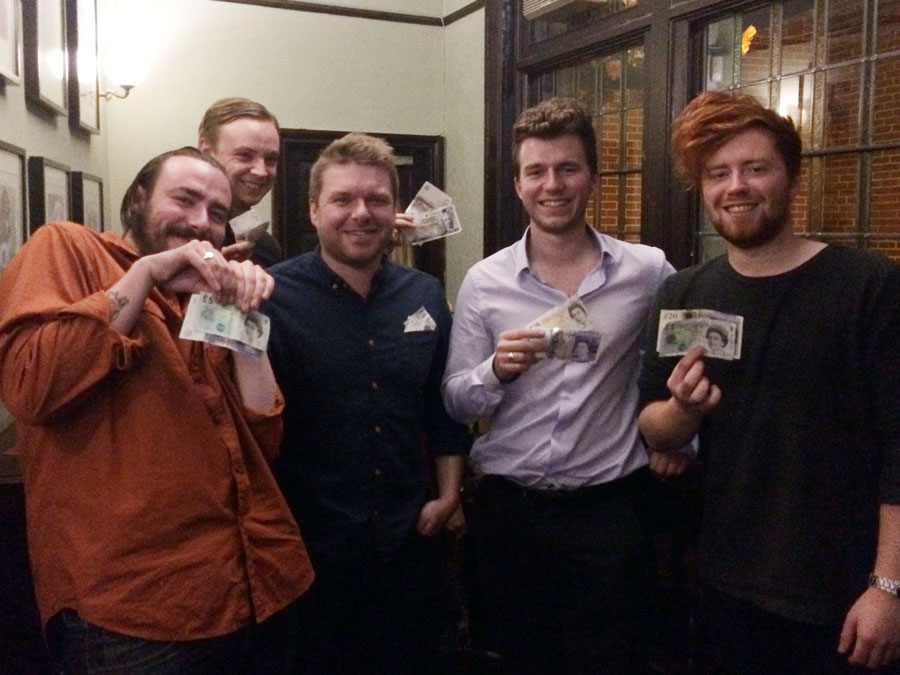 Quiz 186 Winners,  Rascal Ferrets On Vibes  were well happy with their £170 Cash Prize!