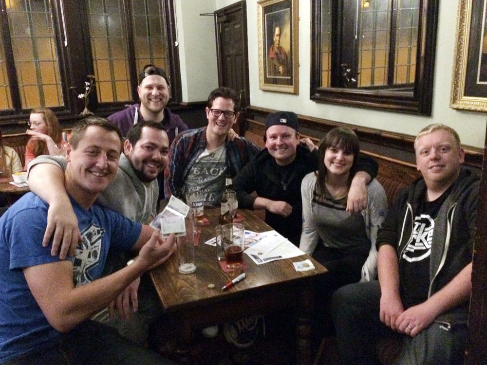 Quiz 187 Winners,  The Laaaaaads  were well happy with the prestige of winning the Quiz, the £49 Cash Prize was a bonus!