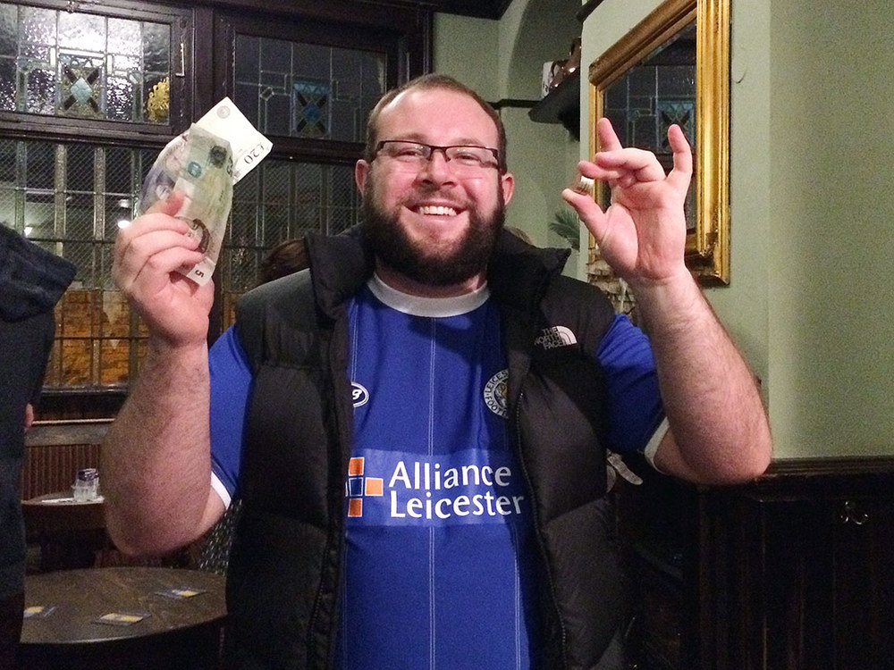 Joyful Jack, his team trounced Newcastle on Saturday and he won a £29 Wild Card at the Quiz, what a canny weekend!