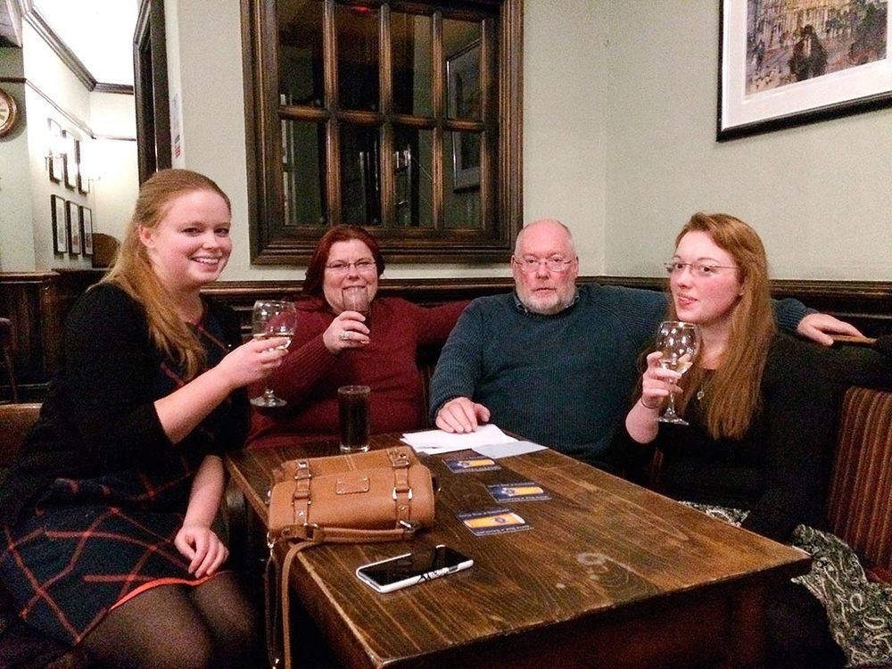 The Winners of Quiz 196 celebrate drawing the Food Vouchers... well there's always next week guys!