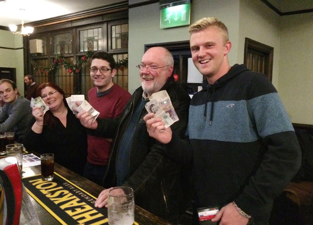 Our Winners  Watch Out Hodgie's About  had plenty to smile about after winning the £123 Cash Prize