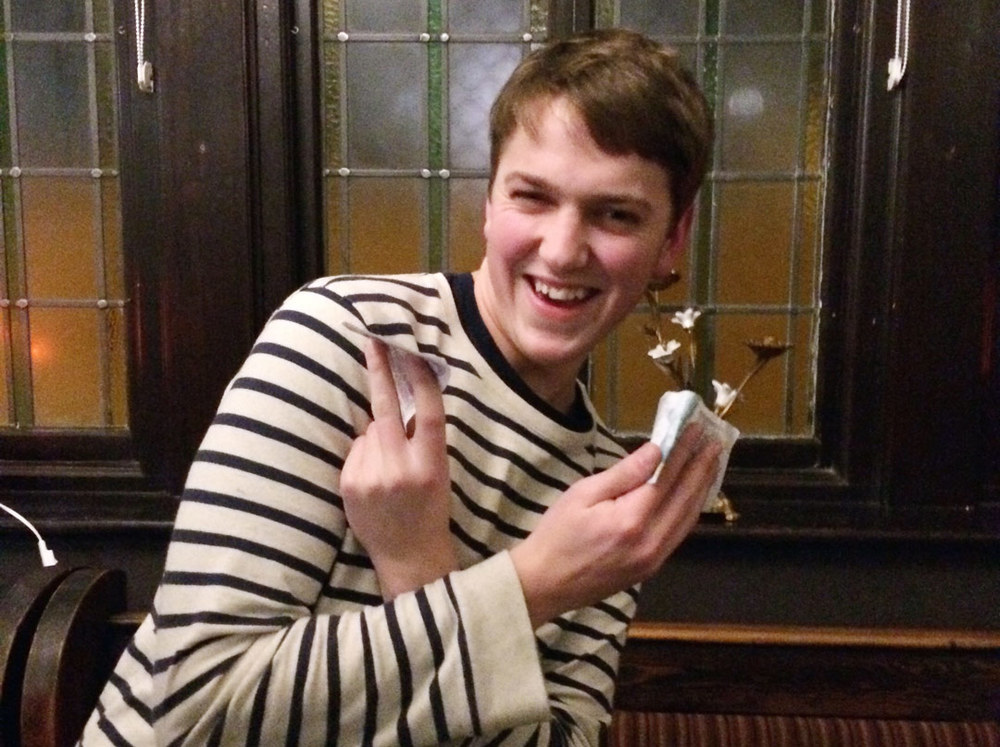 Wild Card Winner Max was overjoyed with his £25 Prize. Not bad for a quid stake!