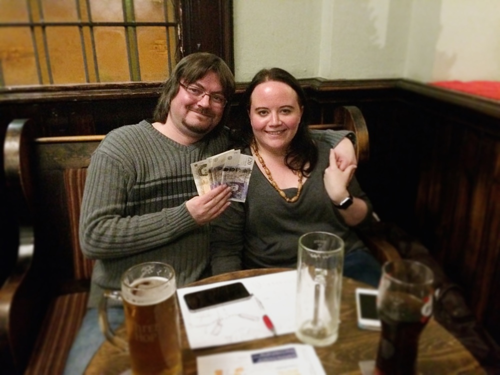 Winners again and this time it's the Cash Prize! Spontaneous Wrecks Jon and Louise.