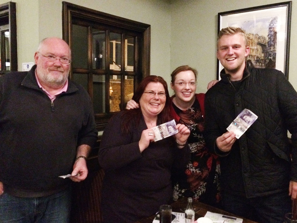 The winning team  Scary Monsters And Super Creeps  who breezed Quiz 202 by an impressive nine points