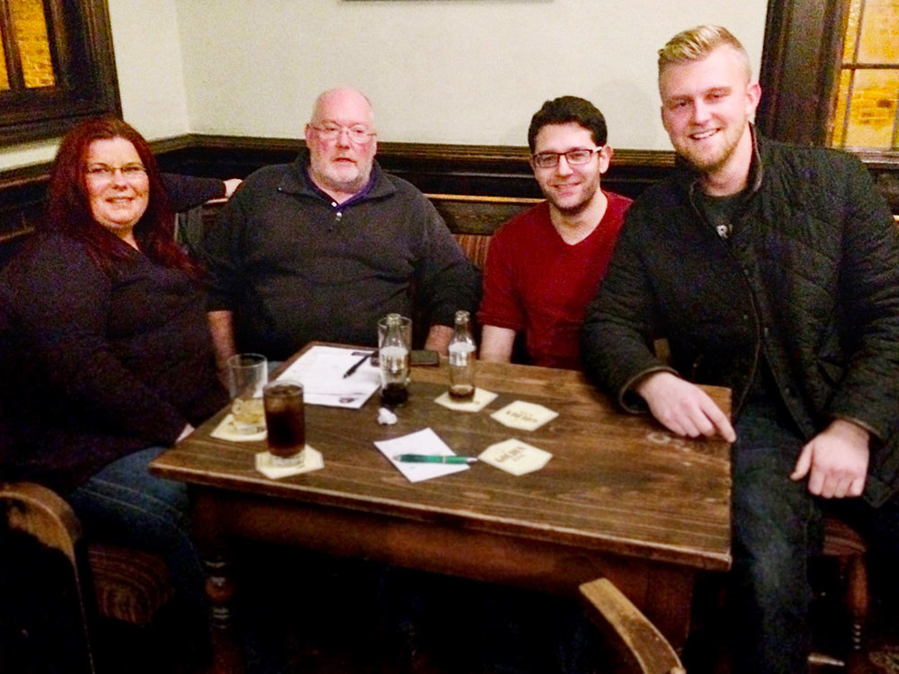 Quiz 204s winners It's Been A Busy Month For Celebrity Undertakers rejoice in yet another victory. There is a couple of the team missing for Quiz 205 though...