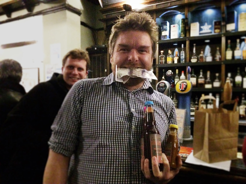 Rob not only won a wallet enhancing £44 in the Wild Card he also got three bottles of CondiMania sauces to boot!