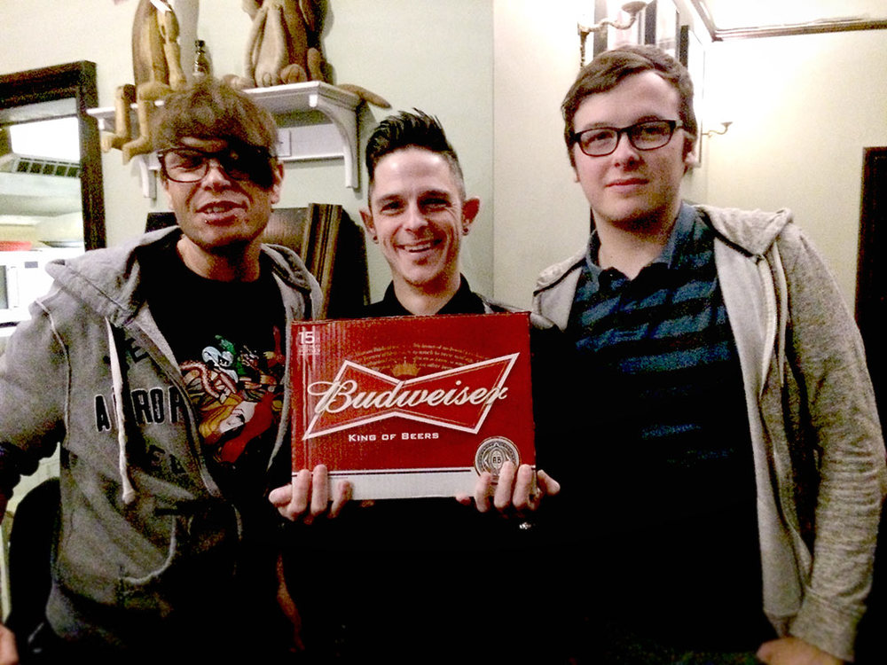 Justin, Nick and Daniel AKA Spit Polished Knobs edged the nights Quiz by one point to win the Beers!