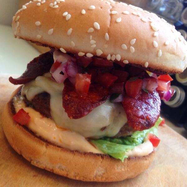 Get here early and try one of our tasty Latin Burgers