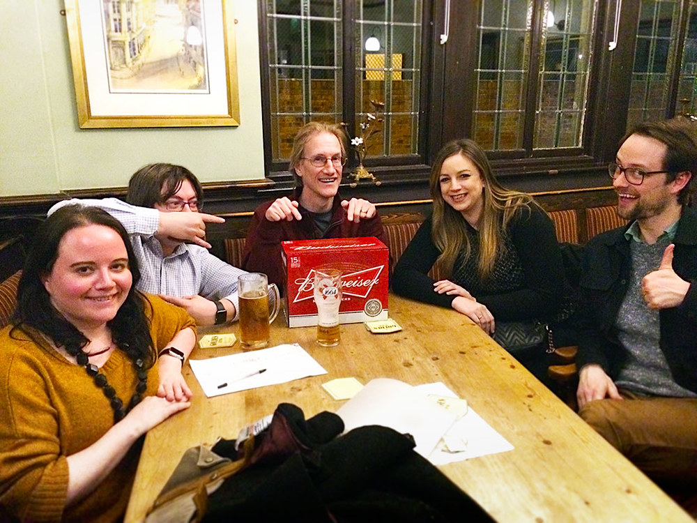 Our Quiz Winners  Spontaneous Wrecks drew the beers at Quiz 214 but they will be back for this Monday trying for the £100 plus Cash Prize!