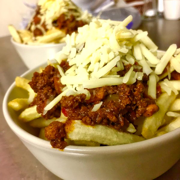 Get here early and try our new Chilli Cheese Fries... just £3.95
