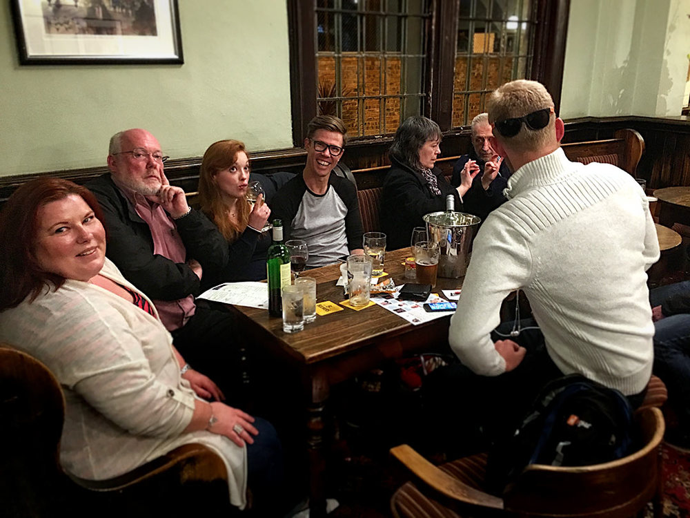 One of our regular Teams, There's An Echo In Here…  just sneaked the Quiz with one point this week but drew the beers so next week it could be a £90+ Cash Prize to play for.