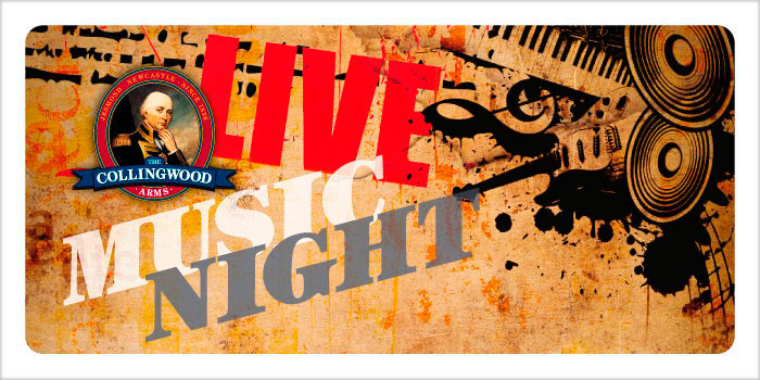 Get it in your diary! Our next free Live Music Night will be on Saturday 1st October from 7:30pm.