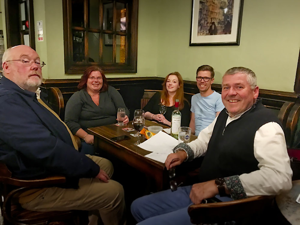 Beat these guys and you'll generally win the Quiz! Calling themselves Ponteland Golf Club Quiz Champions for Quiz 238 they ended up comfortably winning by five clear points.