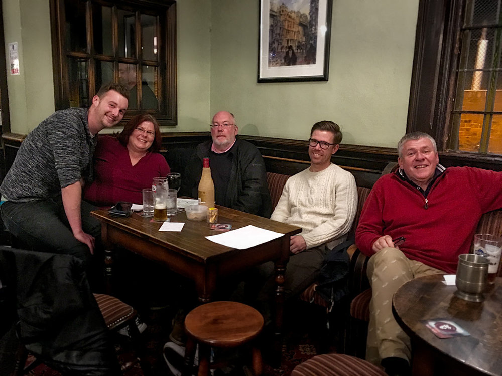 The winners of Quiz 240, even if just by a couple of points, looking rather nonchalant after yet another triumph. It's about time for another Team to peg them back, could it be at this weeks £200 plus Quiz?