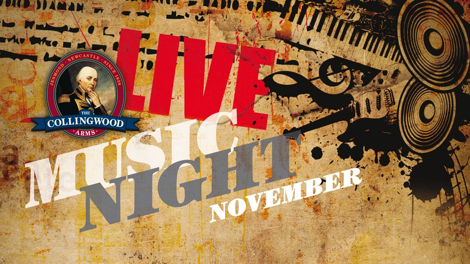 Get it in your diary! Our next free Live Music Night will be on Saturday 5th November from around 7:30pm.