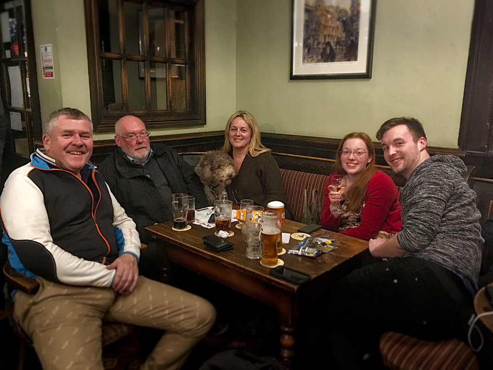 Our winning Team Que? don't look too disheartened with Food Vouchers instead of £401... there's always Quiz 247 guys!