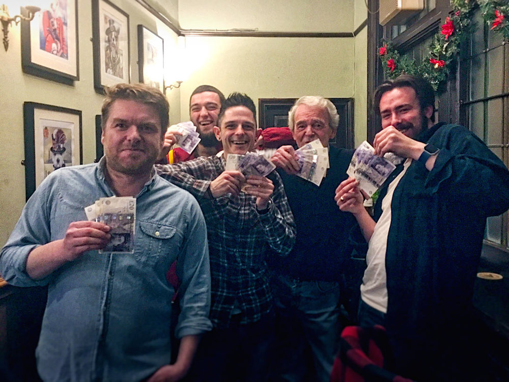 It was worth coming second four weeks in a row for our record £450 Cash Prize Winners Rascal Ferrets On Vibes!
