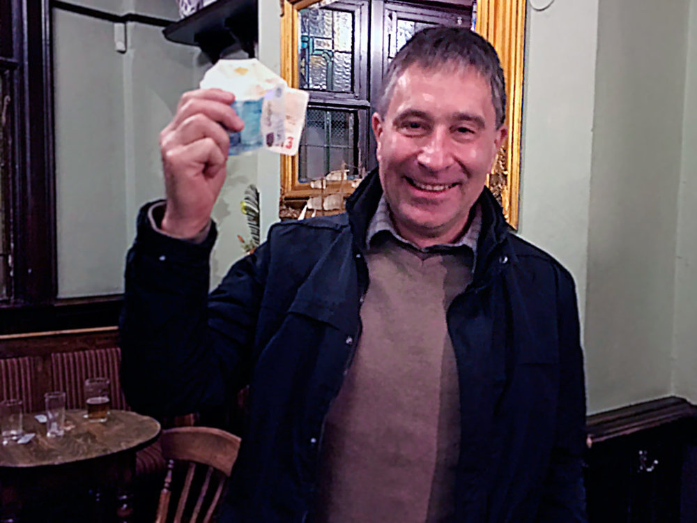First time Wild Card Winner John B was well chuffed after scoring for the £27 prize!