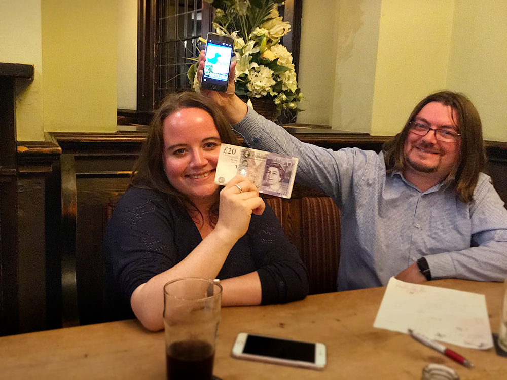It was a double for Louise, not only a Quiz Winner but a £20 Wild Card Winner to boot. Jon's getting the usual self advertising in with a link to the Spontaneous Wrecks fringe festival appearance!