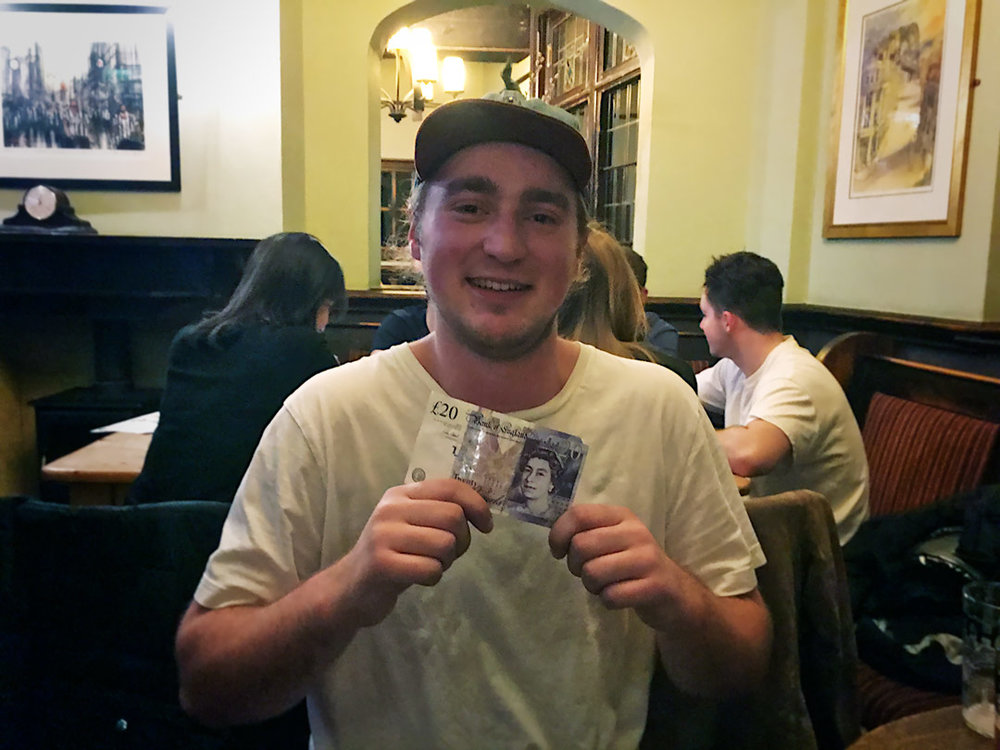 James won his very first Wild Card at Quiz 294. A nice crisp £20 note for a £1 guess!