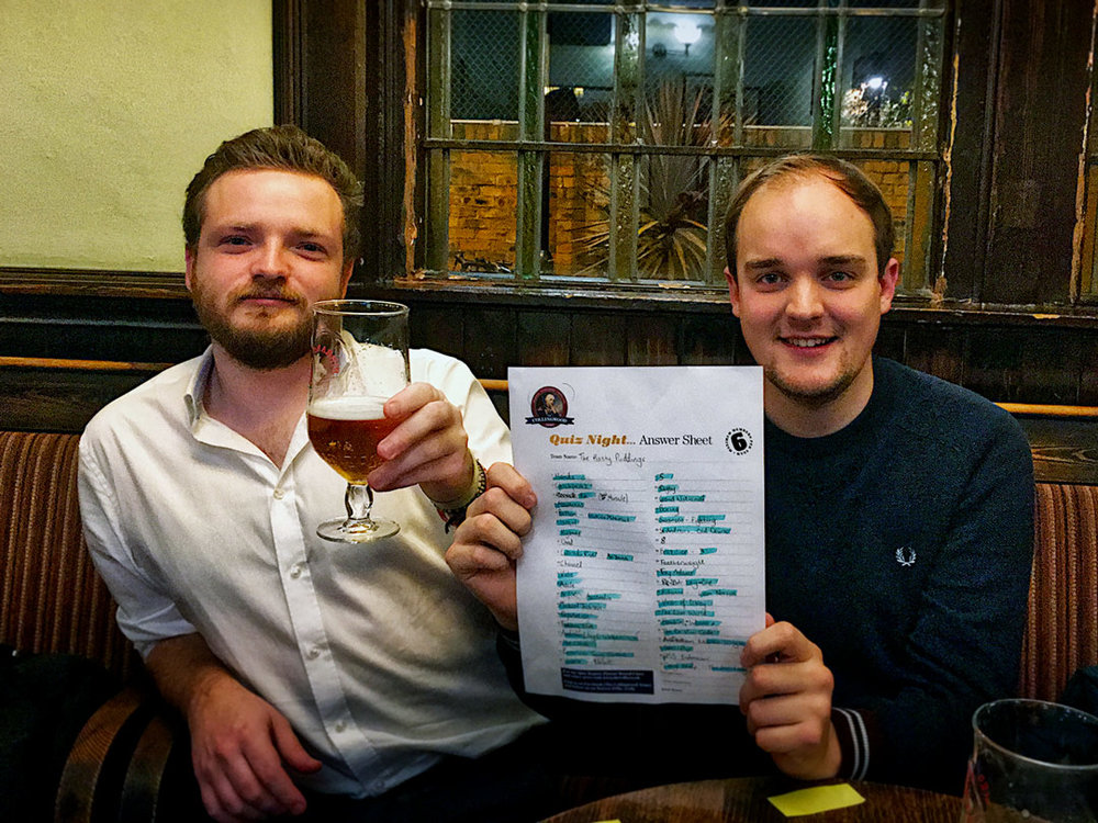 After a tense Dart Off it was our regulars The Hasty Puddings who emerged victorious and got the chance to draw for the £69... unlucky for them they drew the Beers! Never mind guys, there's always next week.