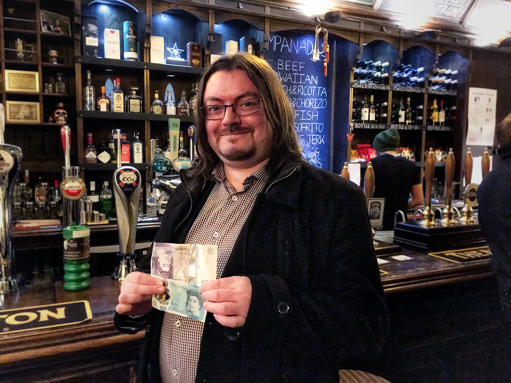 His team didn't win the Quiz (for a change) but Jon from Spontaneous Wrecks won the £25 Wild Card
